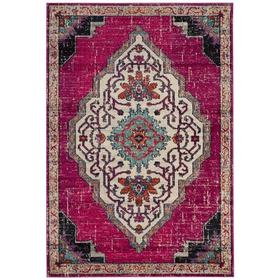 Rafael Pink Area Rug Rug Size: Rectangle 51 x 77