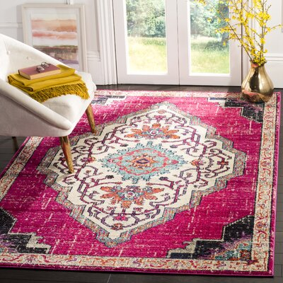 Rafael Pink Area Rug Rug Size: Rectangle 9 x 12