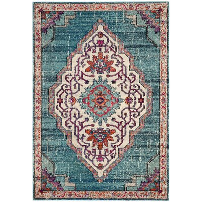 Rafael Blue Area Rug Rug Size: Rectangle 51 x 77