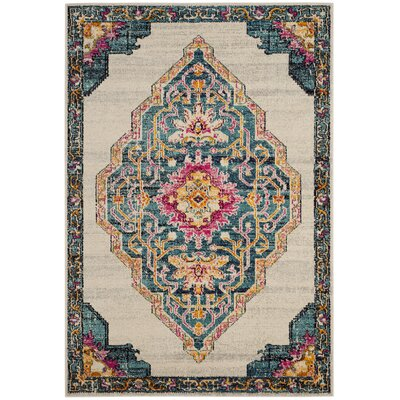 Rafael Beige Area Rug Rug Size: Rectangle 51 x 77