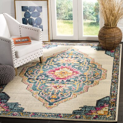 Rafael Beige Area Rug Rug Size: Rectangle 9 x 12