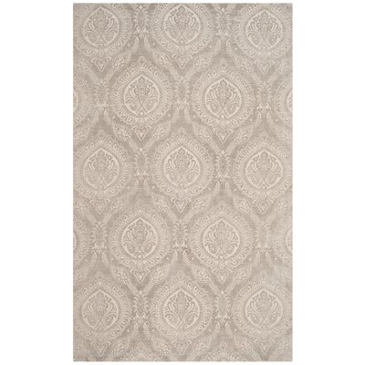 Mellie Hand Tufted Taupe Area Rug Rug Size: Rectangle 4 x 6