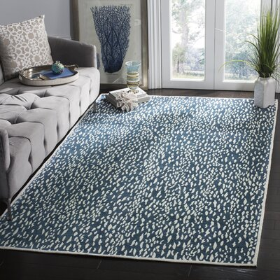 Ankit Hand Tufted Blue Area Rug Rug Size: Runner 23 x 6