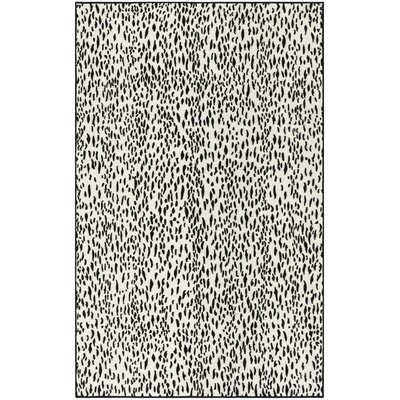 Ankit Contemporary Hand Tufted Black Area Rug Rug Size: Rectangle 4 x 6