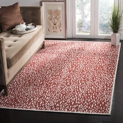 Melinda Hand Tufted Red Area Rug Rug Size: Round�6