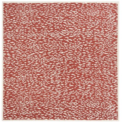 Melinda Hand Tufted Red Area Rug Rug Size: Square�6