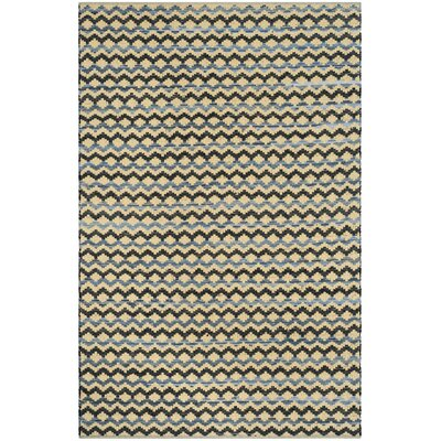 Zolt�n Hand Woven Cotton Yellow/Black Area Rug Rug Size: Round�4