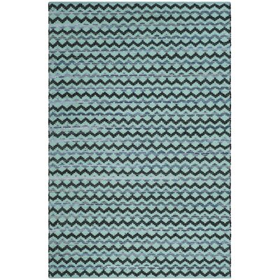 Zolt�n Hand Woven Cotton Turquoise Geometric Area Rug Rug Size: Rectangle 4 x 6