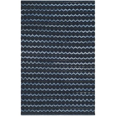 Zolt�n Hand Woven Cotton Turquoise Area Rug Rug Size: Rectangle 9 x 12