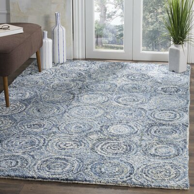 Philip Hand Tufted Cotton Blue Area Rug Rug Size: Rectangle 8 x 10