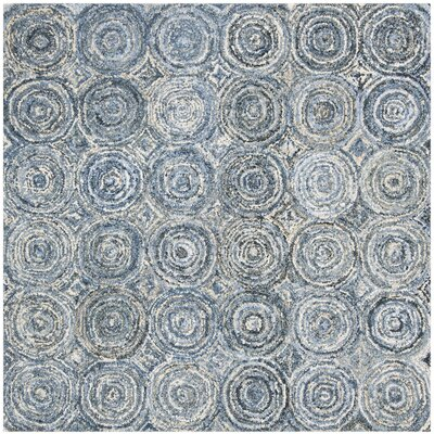 Philip Hand Tufted Cotton Blue Area Rug Rug Size: Square�6