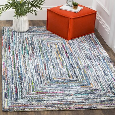 Mueller Hand Tufted Cotton Light Gray Area Rug Rug Size: Rectangle 5 x 8
