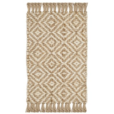 Stokes Natural Fiber Hand Tufted Ivory Area Rug� Rug Size: Rectangle 3 x 5
