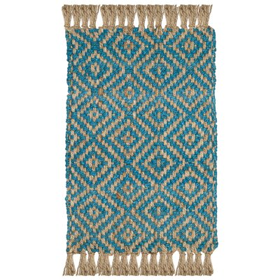 Miami Springs Natural Fiber Hand Tufted Turquoise Area Rug� Rug Size: Rectangle 3 x 5