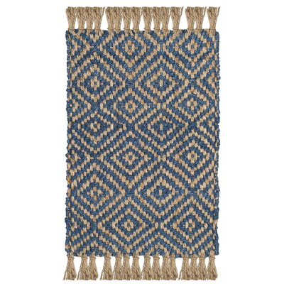 Okaloosa Natural Fiber Hand Tufted Tropical Blue Area Rug� Rug Size: Rectangle 3 x 5