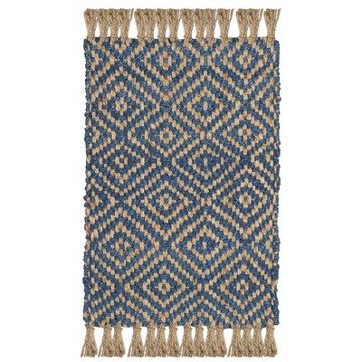 Okaloosa Natural Fiber Hand Tufted Tropical Blue Area Rug� Rug Size: Square 6