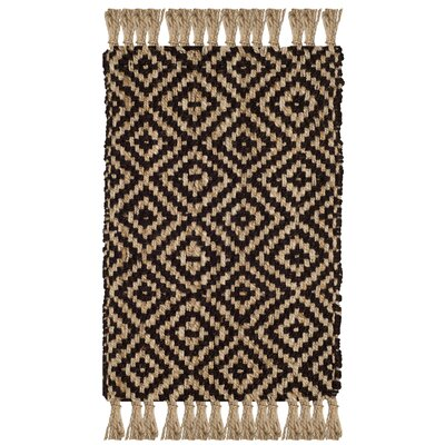 Sherbrooke Natural Fiber Hand Woven Brown Area Rug� Rug Size: Rectangle 5 x 8