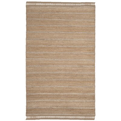 Lawtey Fiber Hand Woven Beige Area Rug� Rug Size: Rectangle 4 x 6