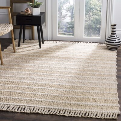 Lawtey Fiber Hand Woven Beige Area Rug� Rug Size: Rectangle 8 x 10