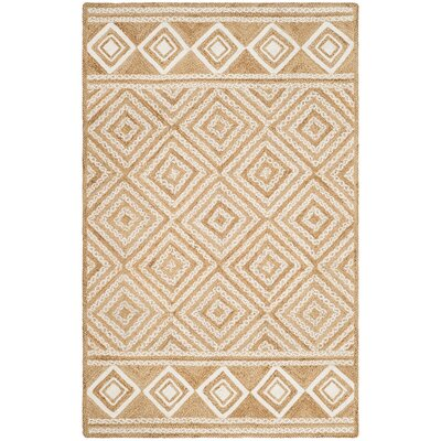 San Castle Natural Fiber Hand Woven Ivory Area Rug� Rug Size: Rectangle 5 x 8