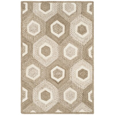 Stalcup Natural Fiber Hand Woven Gray Area Rug� Rug Size: Rectangle 4 x 6