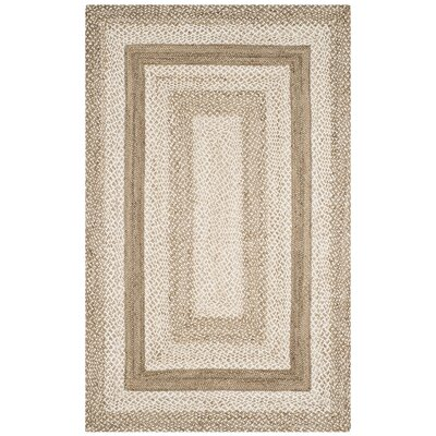 Vincent Natural Fiber Hand Hooked Gray Area Rug� Rug Size: Rectangle 5 x 8