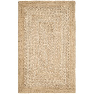 Marie Natural Fiber Hand Hooked Natural Area Rug� Rug Size: Rectangle 5 x 8