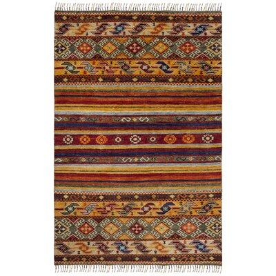 Rockport Hand Knotted Yellow Area Rug� Rug Size: Rectangle 6 x 9