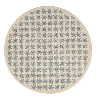 Dietrich Hand Hooked Ivory Area Rug� Rug Size: Round 4