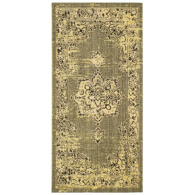 Trenton Yellow Area Rug� Rug Size: Rectangle 2 X 36