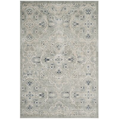 Ediline Gray Area Rug� Rug Size: Rectangle 67 x 92