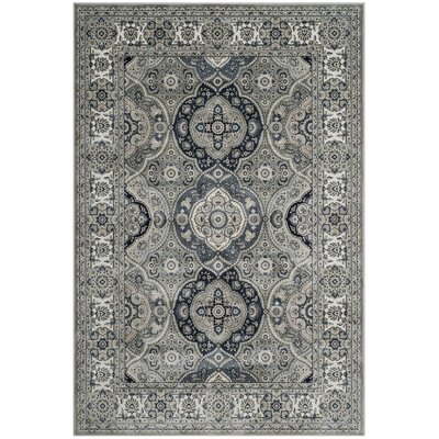 Cherine Gray Area Rug� Rug Size: Rectangle 51 x 77