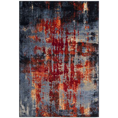 Amol Light Blue Area Rug� Rug Size: Rectangle 6 x 9