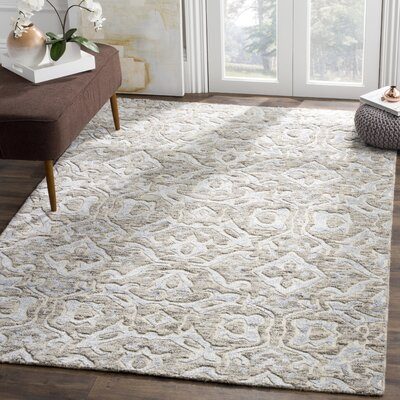 Wyrick Hand Tufted Gray Area Rug� Rug Size: Rectangle 8 x 10