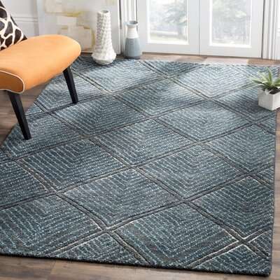Wysocki Hand Tufted Wool Charcoal Area Rug� Rug Size: Rectangle 6 x 9