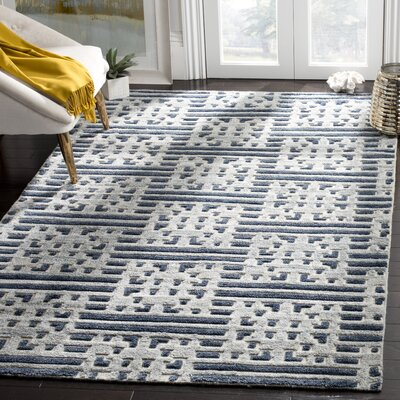Stacy Hand Tufted Wool Blue Area Rug� Rug Size: Rectangle 6 x 9
