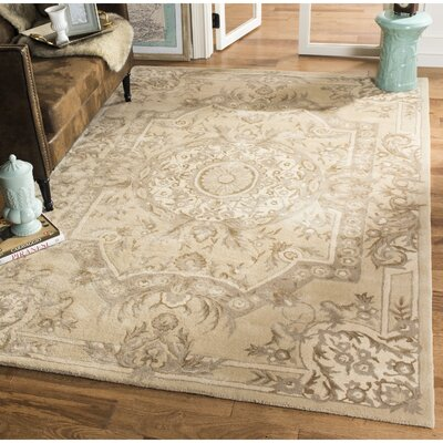 Lendella Hand Tufted Sand Area Rug Rug Size: Rectangle 4 x 6