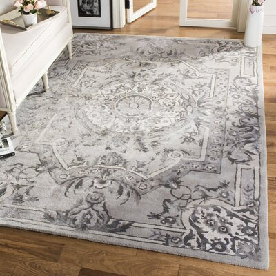 Lendella Hand Tufted Smoke Area Rug Rug Size: Rectangle 4 x 6