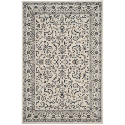 Clarette Ivory Area Rug� Rug Size: Rectangle 33 x 53