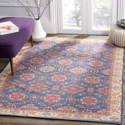 Abington Hand Tufted Cotton Navy Area Rug� Rug Size: Rectangle 4 x 6