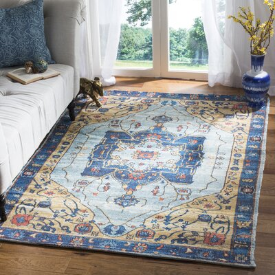 Abington Hand Tufted Cotton Turquoise Area Rug� Rug Size: Rectangle 4 x 6
