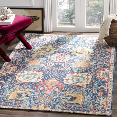 Abington Hand Tufted Cotton Blue Area Rug� Rug Size: Rectangle 5 x 8