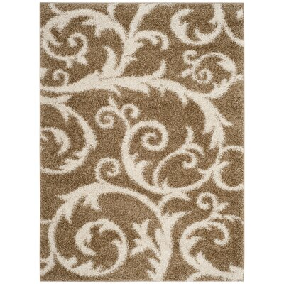 Byrnedale Shag Brown Area Rug� Rug Size: Rectangle 51 x 76