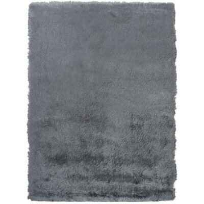 Hadar Shag Hand Tufted Slate Area Rug� Rug Size: Rectangle 4 x 6