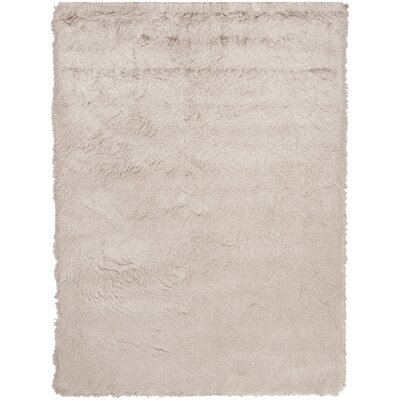 Hadar Shag Hand Tufted Beige Area Rug� Rug Size: Rectangle 5 x 8