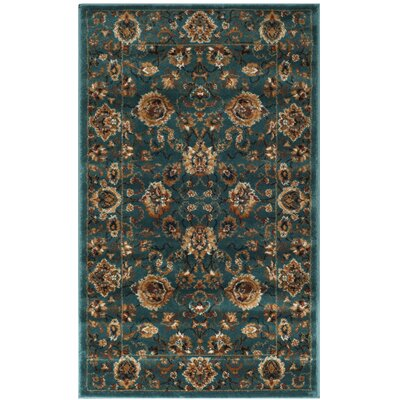 Glenmoor Teal Area Rug Rug Size: Rectangle 4 x 6