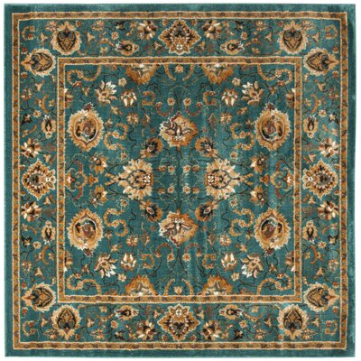 Glenmoor Teal Area Rug Rug Size: Square 67