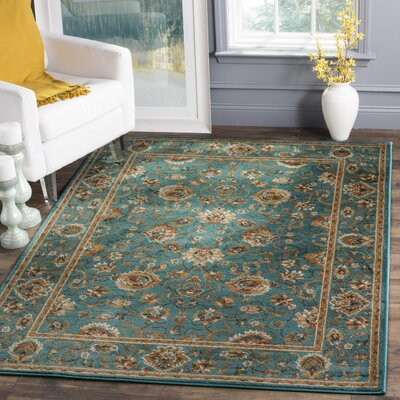 Glenmoor Teal Area Rug Rug Size: Rectangle 51 x 76