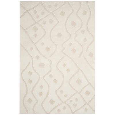 Atisha Ivory Area Rug Rug Size: Rectangle 4 x 6
