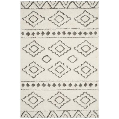 Albers Contemporary Ivory Area Rug Rug Size: Square 67